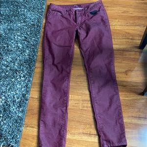 Prana Kara Jeans Size 4, Maroon